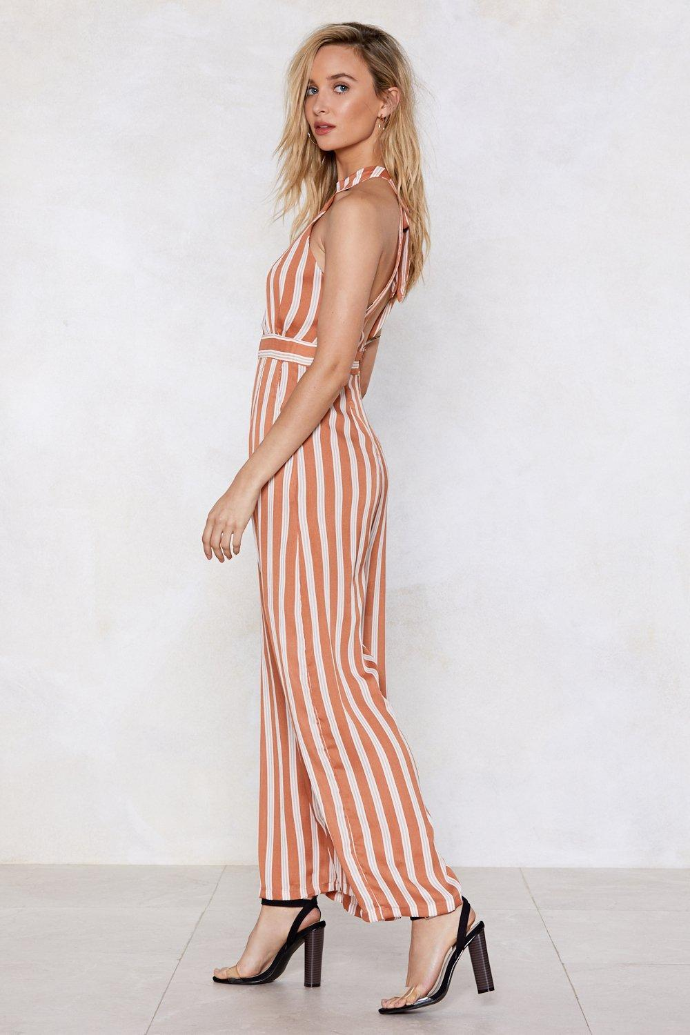 d73a72588126 Your Guess is as Good as Line Stripe Jumpsuit