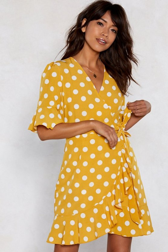 I Dot You Babe Polka Dot Dress by Nasty Gal