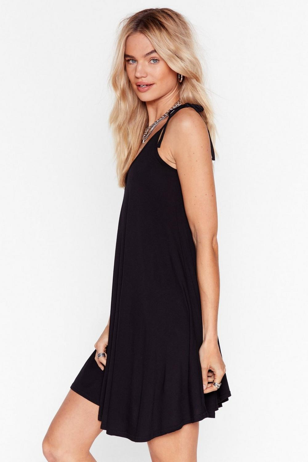 249290d791c9 Tie Strap Swing Dress in Jersey | Shop Clothes at Nasty Gal!