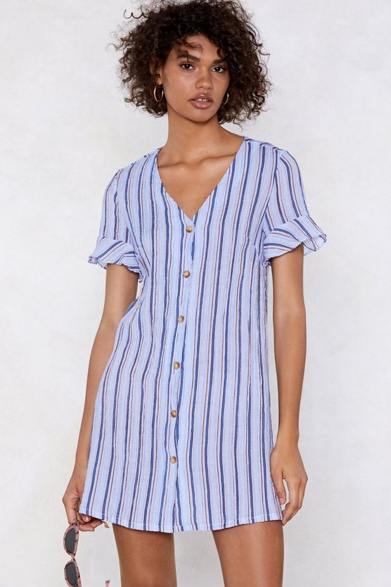 Keep It Down Striped Dress by Nasty Gal