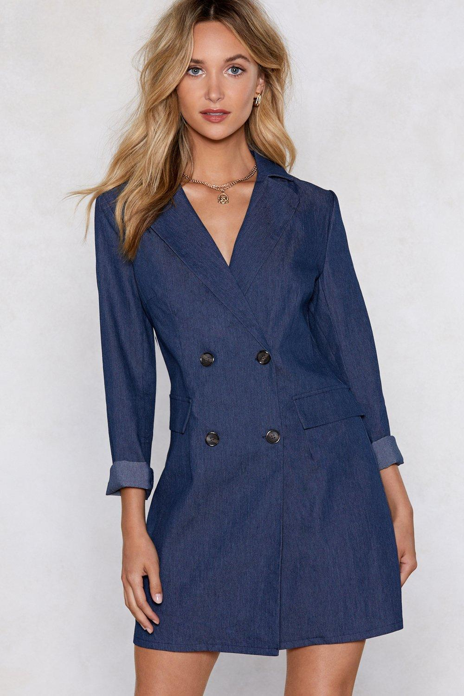 651c2a0dd50a Mind Your Business Denim Blazer Dress | Shop Clothes at Nasty Gal!