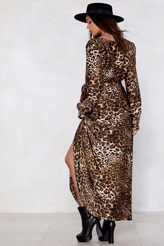 Cat Nap Leopard Dress by Nasty Gal