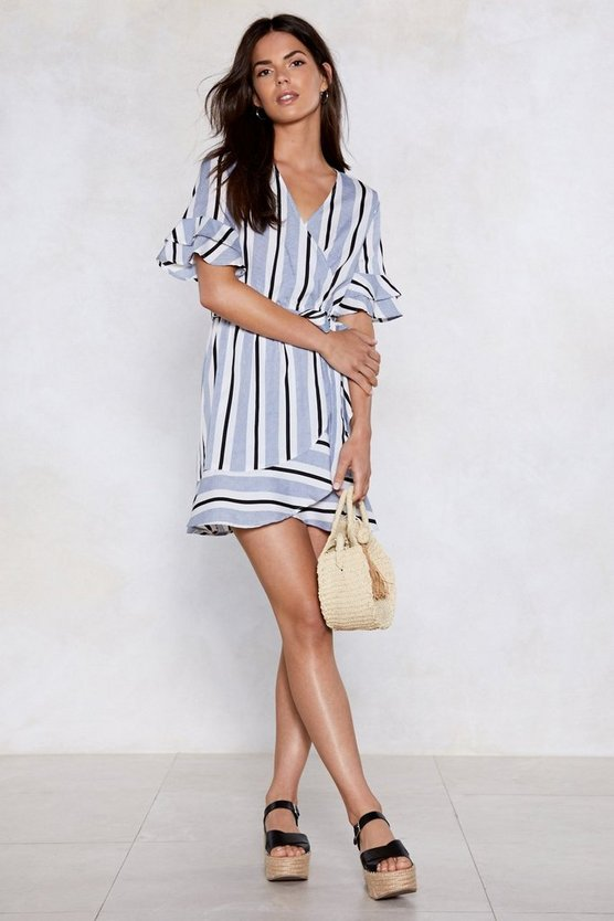 Such A Nautical Girl Striped Dress by Nasty Gal