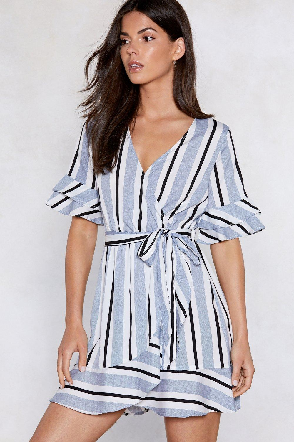 Hover to zoom · Such a Nautical Girl Striped Dress 93597581e