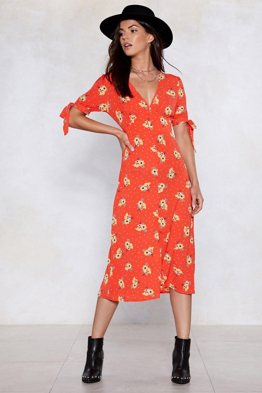 4a3de399c43e Floral Wrap Midi Dress | Shop Clothes at Nasty Gal!
