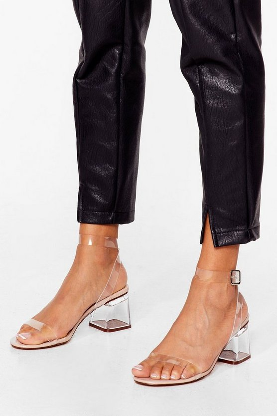 Clear The Air Low Heel by Nasty Gal
