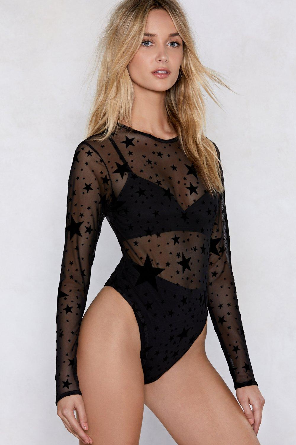 bc5d846d6681 How Star Will You Go Sheer Bodysuit | Shop Clothes at Nasty Gal!