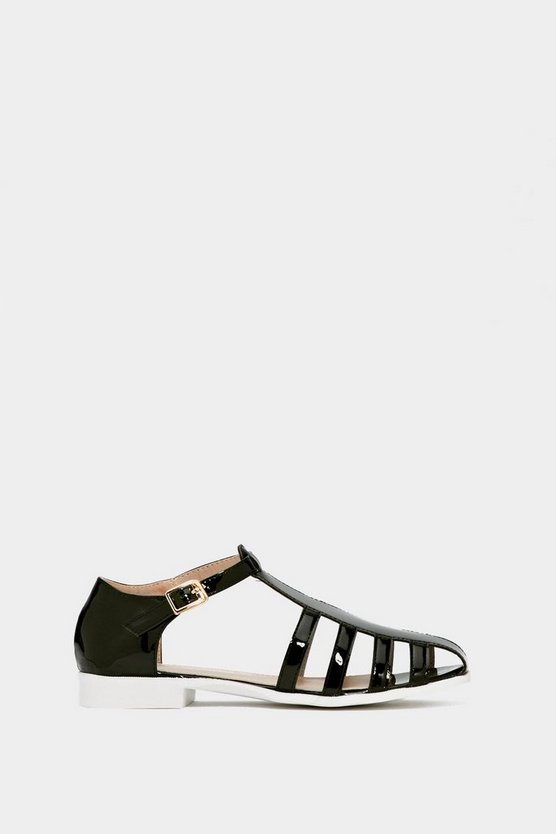 Cage Of Innocence Vegan Leather Sandal by Nasty Gal