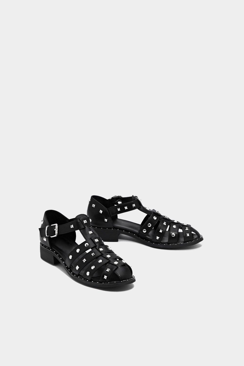 clearance largest supplier enjoy online Feeling Cagey Studded Sandal 100% guaranteed cheap online Xmuv4B