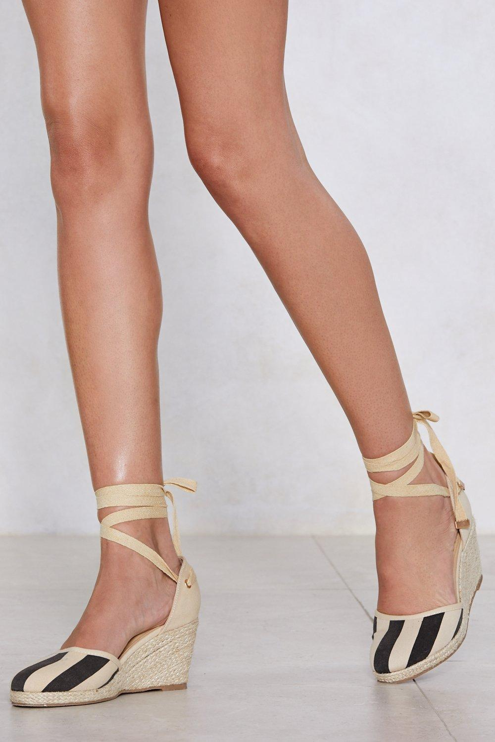 clearance prices It's All Stripe For Some Espadrille Wedge enjoy online Psb0AuA