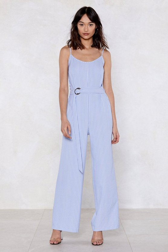 You Just Might Be Stripe Jumpsuit by Nasty Gal