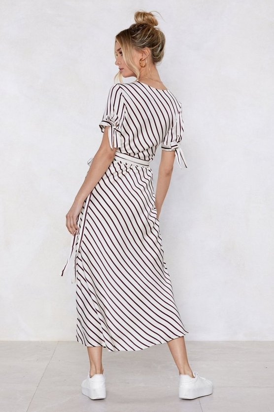 Play Your Cards Stripe Maxi Dress by Nasty Gal