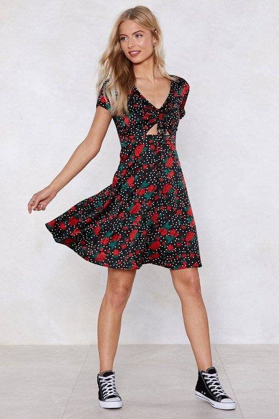 The Years Tie By Polka Dot Dress by Nasty Gal