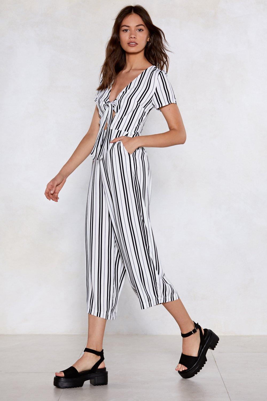 048003a98d30 Stripe a Pose Tie Jumpsuit