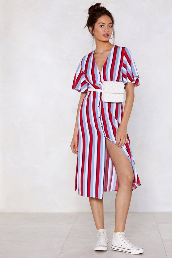 I'm Gonna Make You Line Midi Dress by Nasty Gal