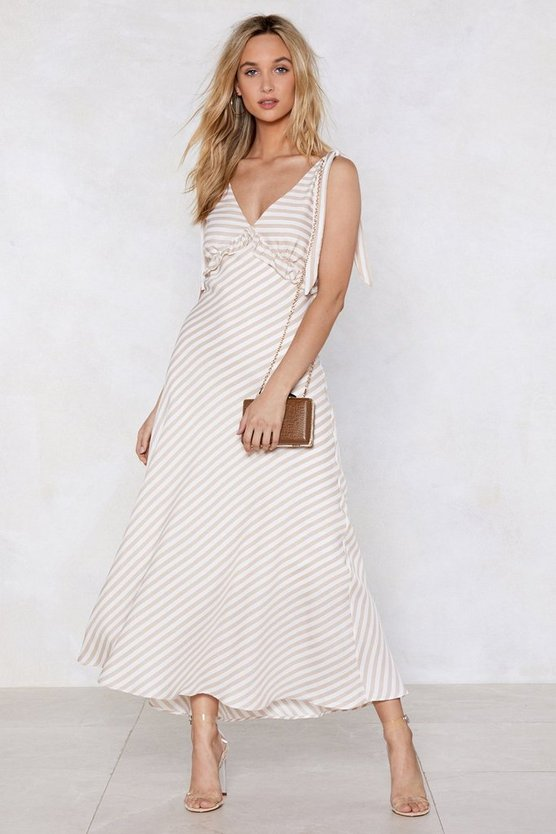 Feeling Classy Striped Dress by Nasty Gal