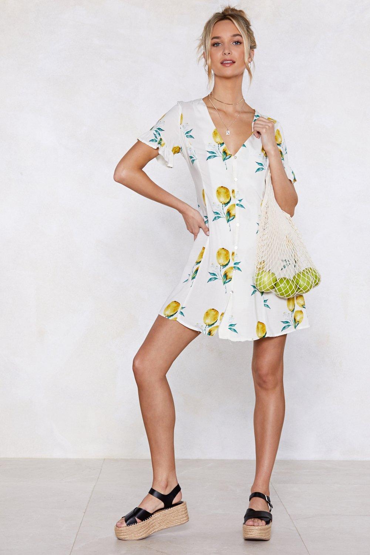 e0277d9cc41 When Life Gives You Lemons Button Dress