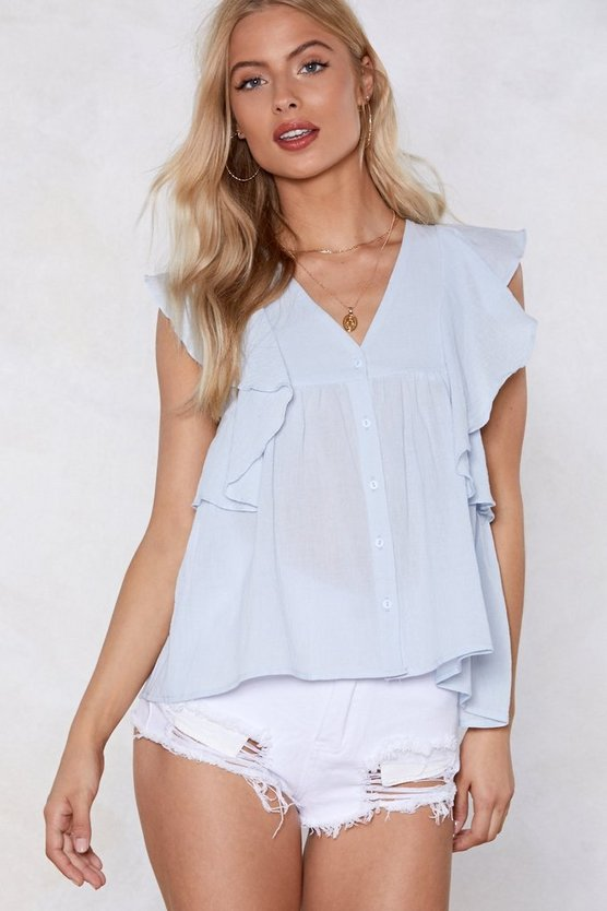 Hear The Ruffle Top by Nasty Gal