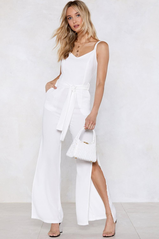Time To Split Linen Jumpsuit Shop Clothes At Nasty Gal