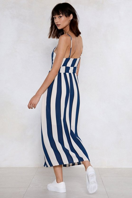 If I Could Turn Back Line Striped Dress by Nasty Gal