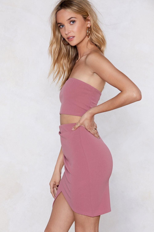 5abde107802 Together Or Apart Bandeau Top And Skirt Set