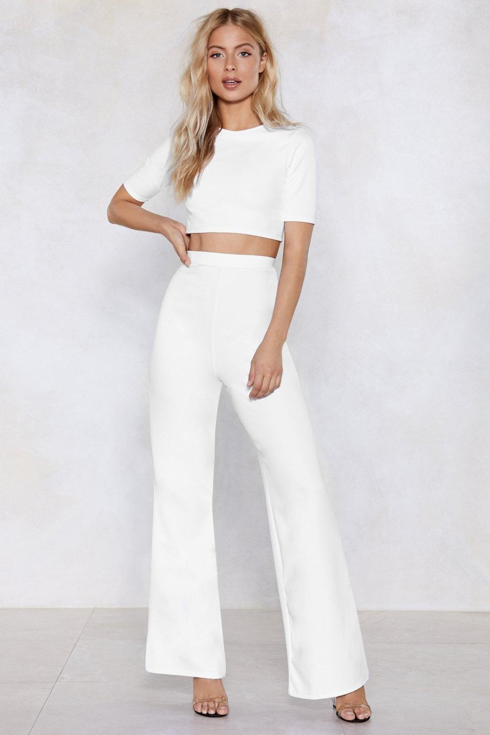 823a86a9b19ba9 Settle the Score Crop Top and Pants Set | Shop Clothes at Nasty Gal!