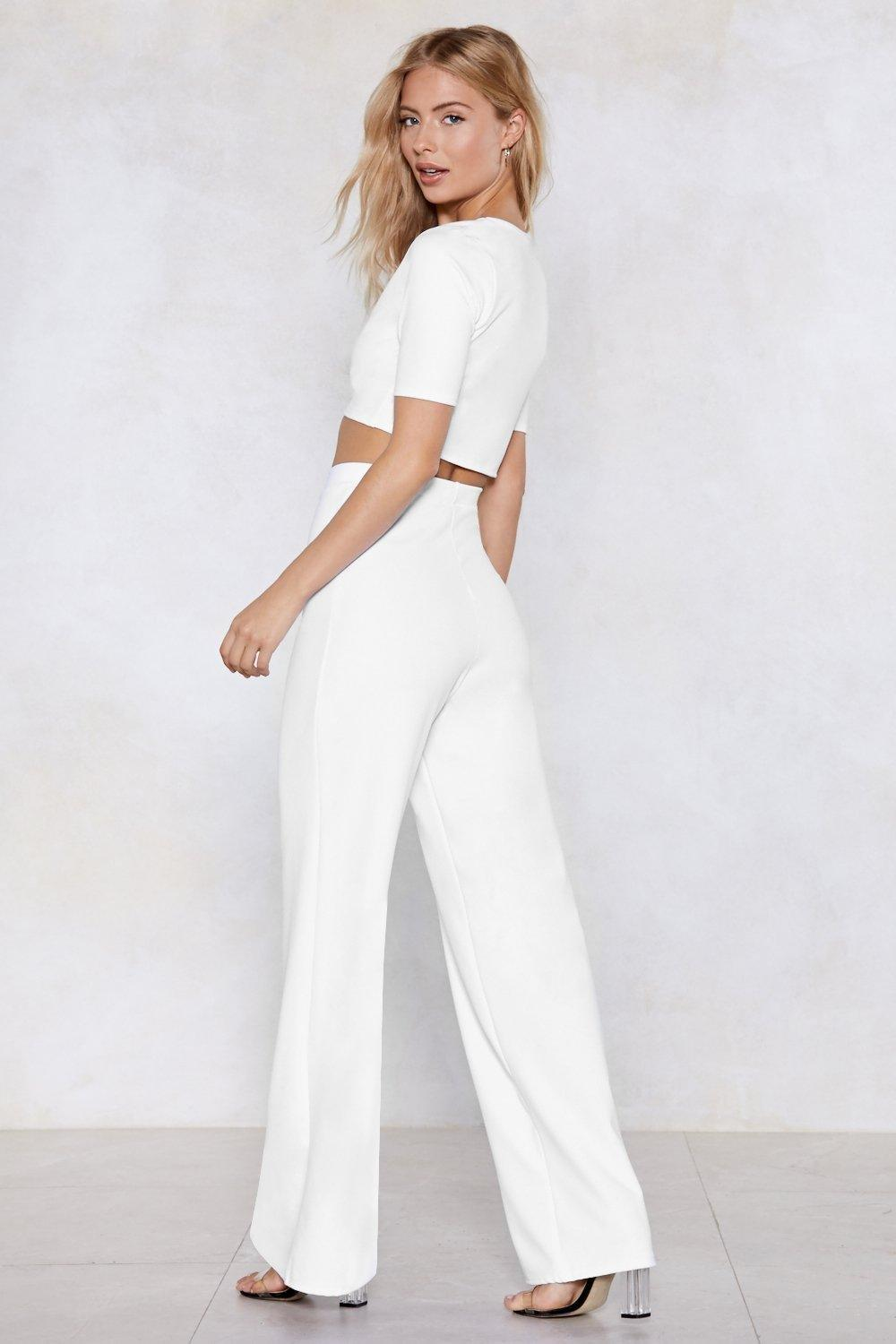c7411f6277d Settle the Score Crop Top and Pants Set | Shop Clothes at Nasty Gal!
