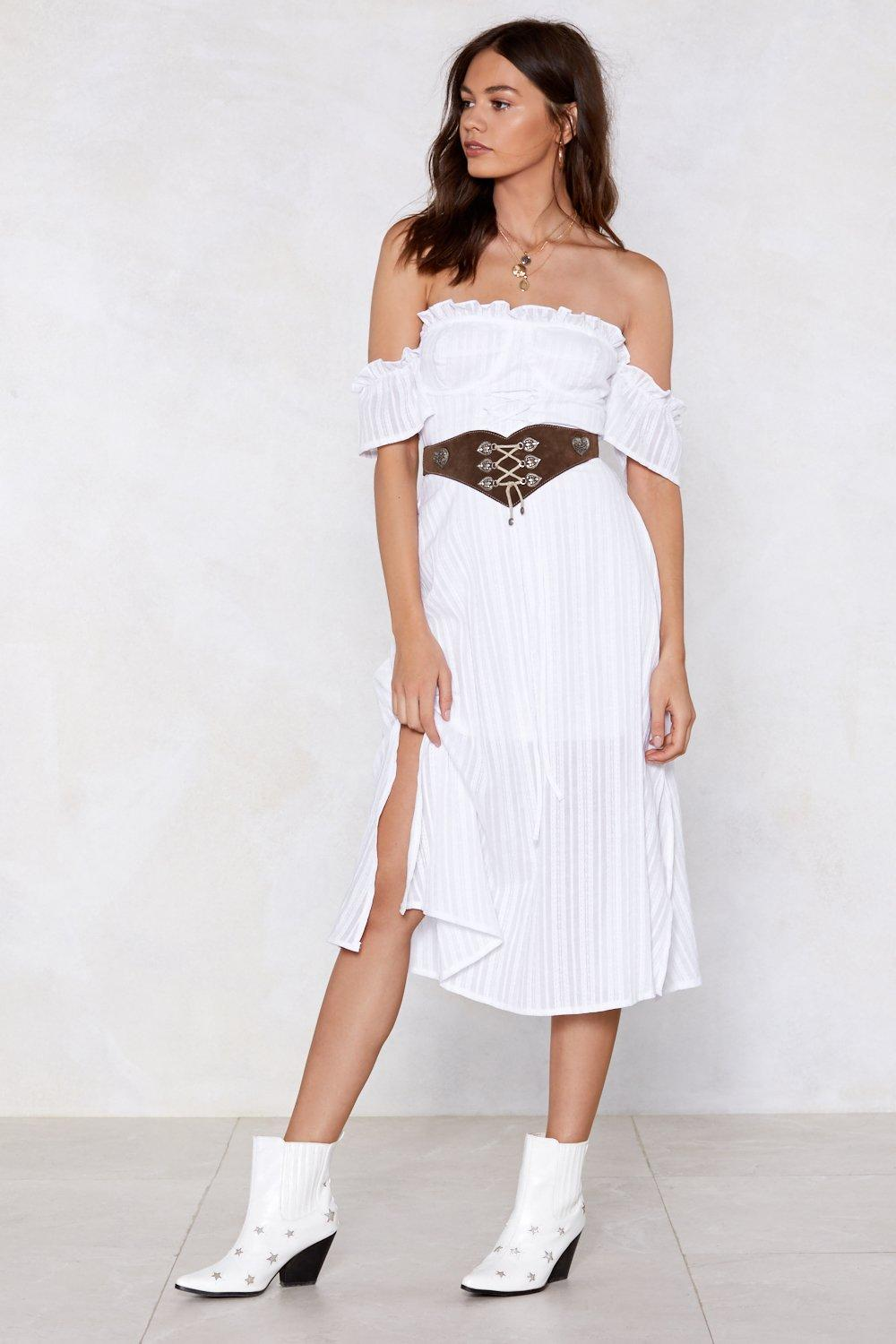ab2d5fbdb6 Womens White Hot Topic Midi Dress. Hover to zoom