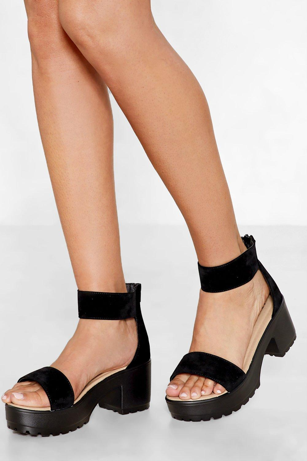 c6884efab Womens Black Open to Suggestions Faux Suede Sandal
