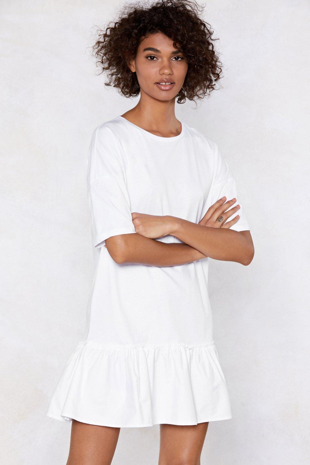 2efd93fed6d Womens White End It On This Ruffle Dress