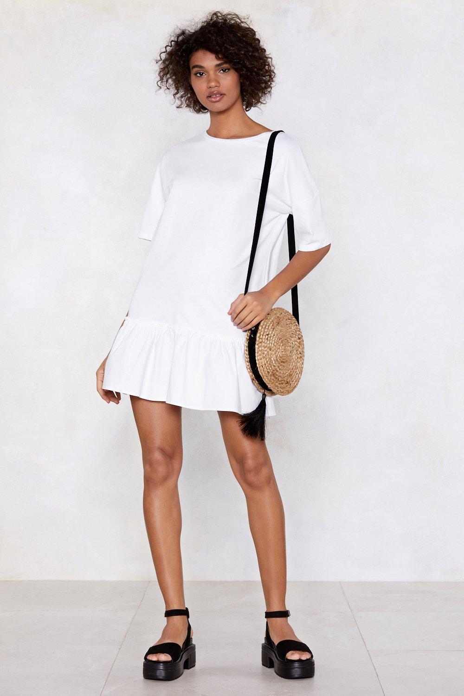 8c5da646617 Womens White End It On This Ruffle Dress.