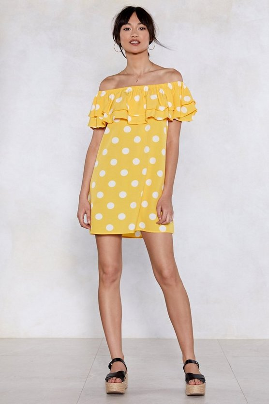 Spot Lights On You Polka Dot Dress by Nasty Gal