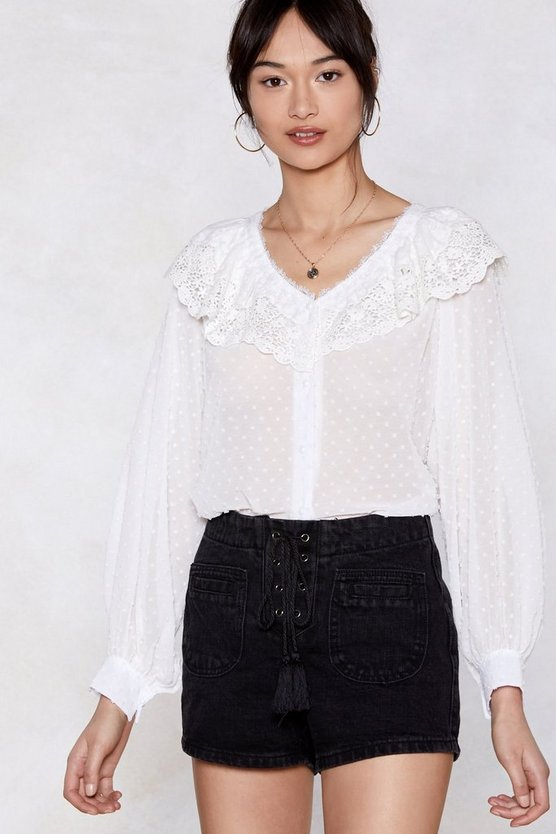 Woman's World Sheer Blouse by Nasty Gal