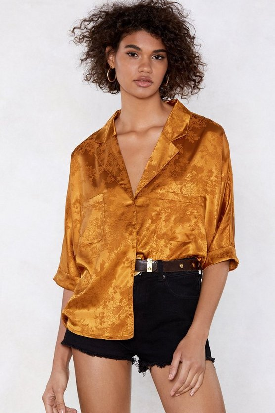 Easy Going Jacquard Blouse by Nasty Gal