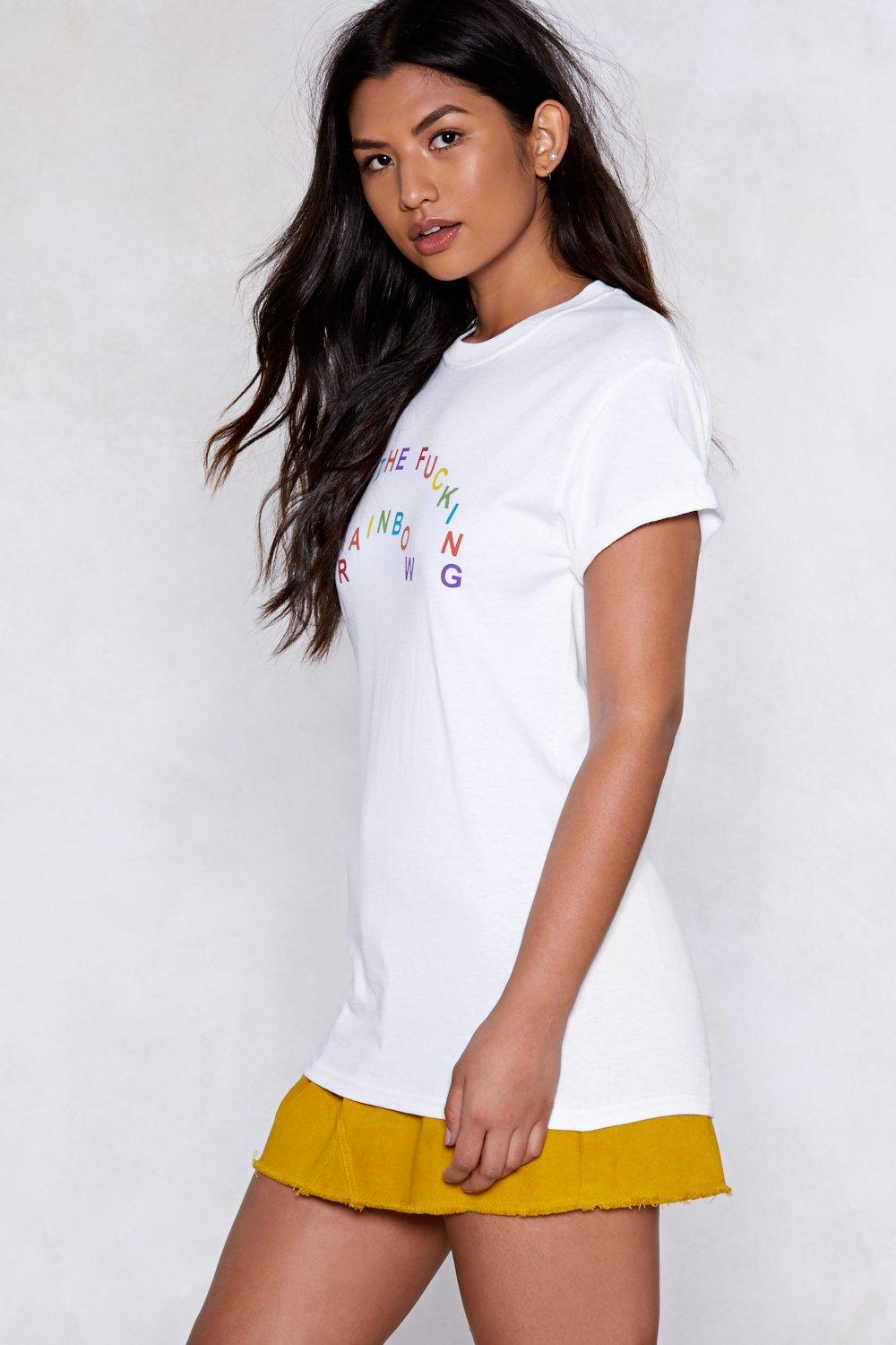 13f0912ebbf98 Over the Fucking Moon Rainbow Tee | Shop Clothes at Nasty Gal!