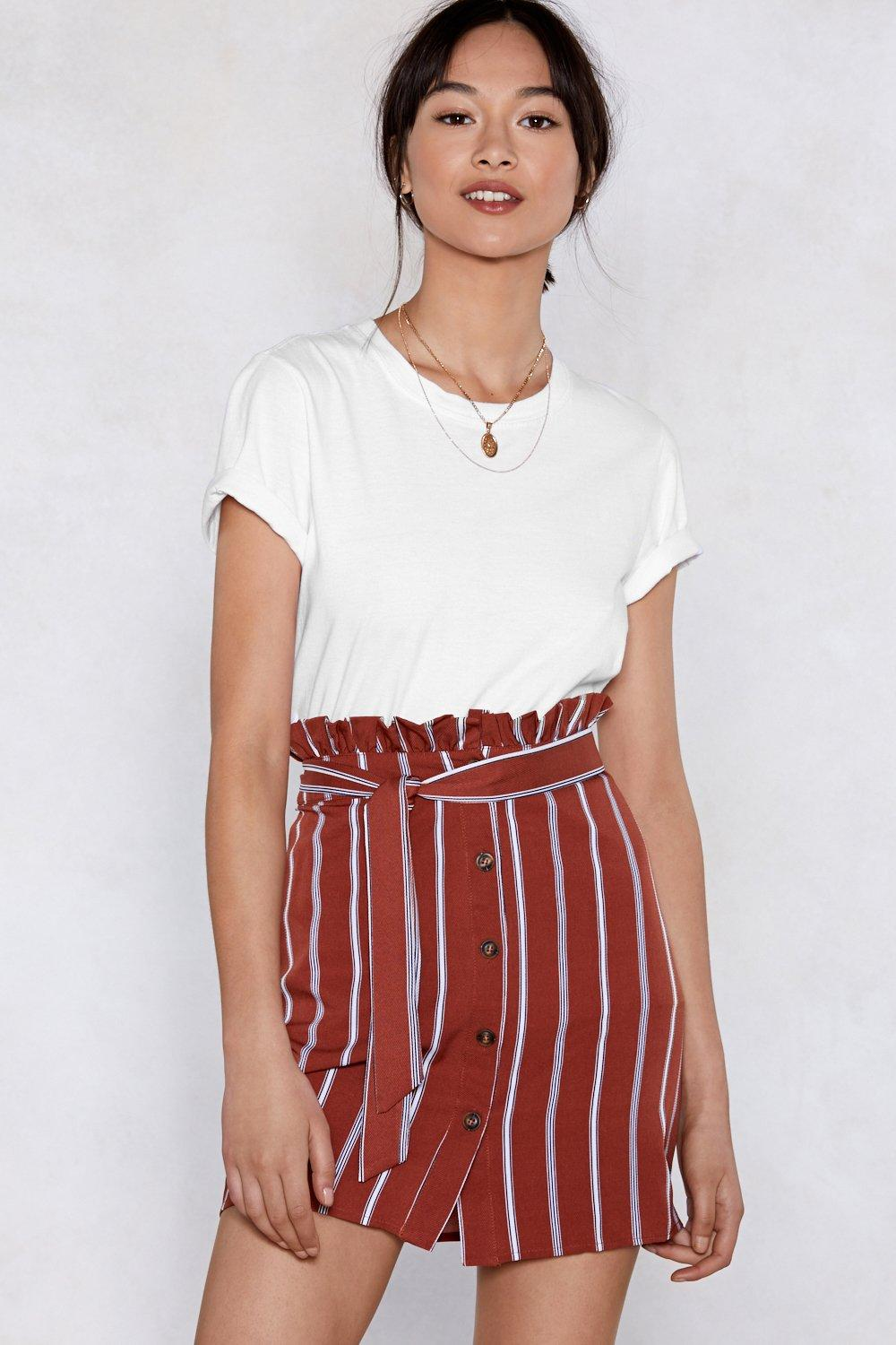 87c9ef72ba Serves 'Em Stripe Paperbag Skirt | Shop Clothes at Nasty Gal!