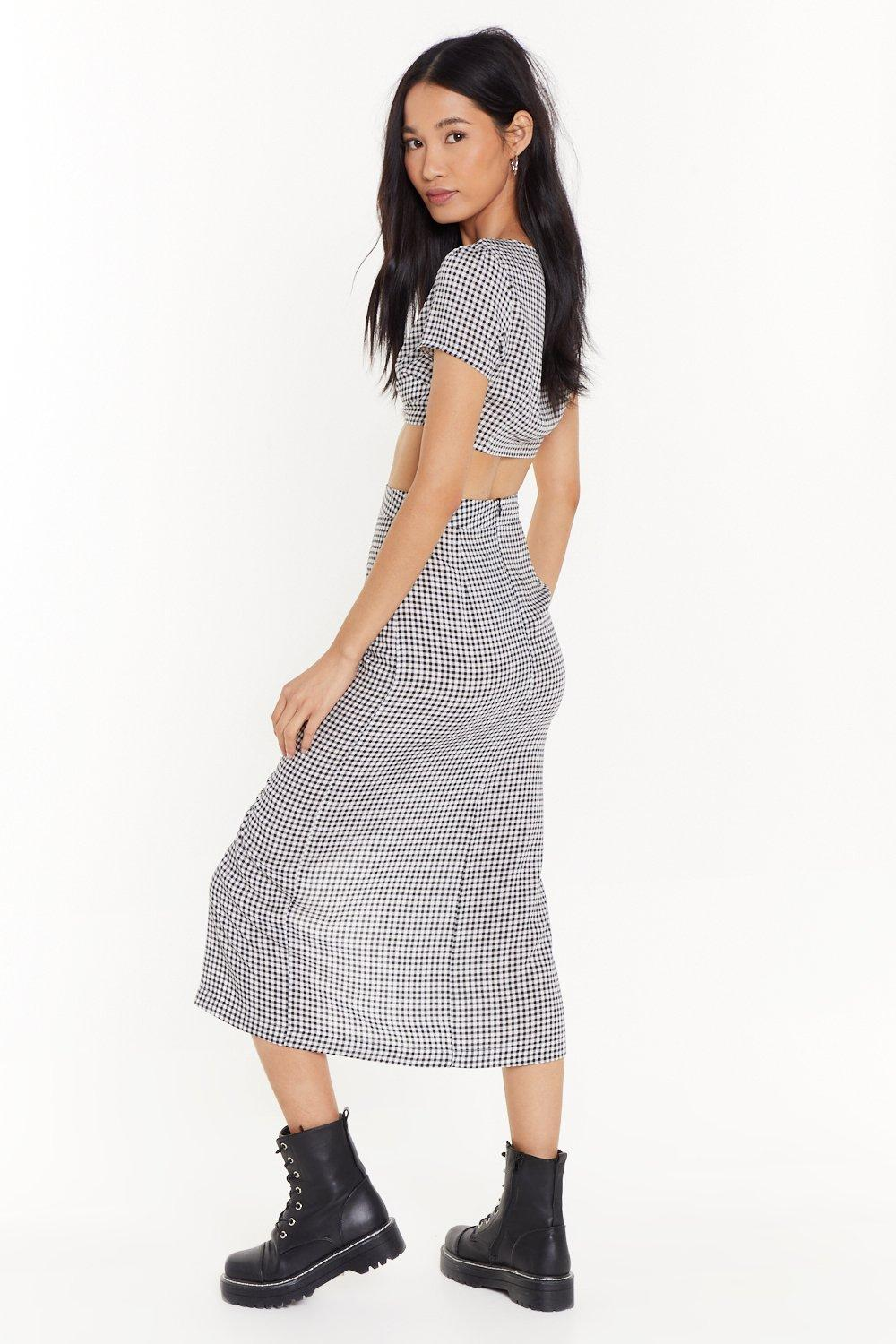 0e7940505ba2f Easy Does It Gingham Top and Skirt Set | Shop Clothes at Nasty Gal!