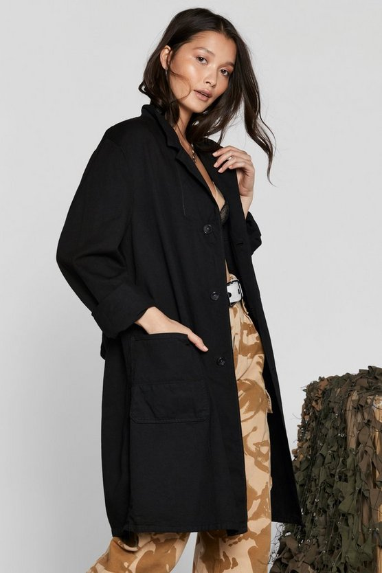 After Party Vintage Go Long Jacket by Nasty Gal