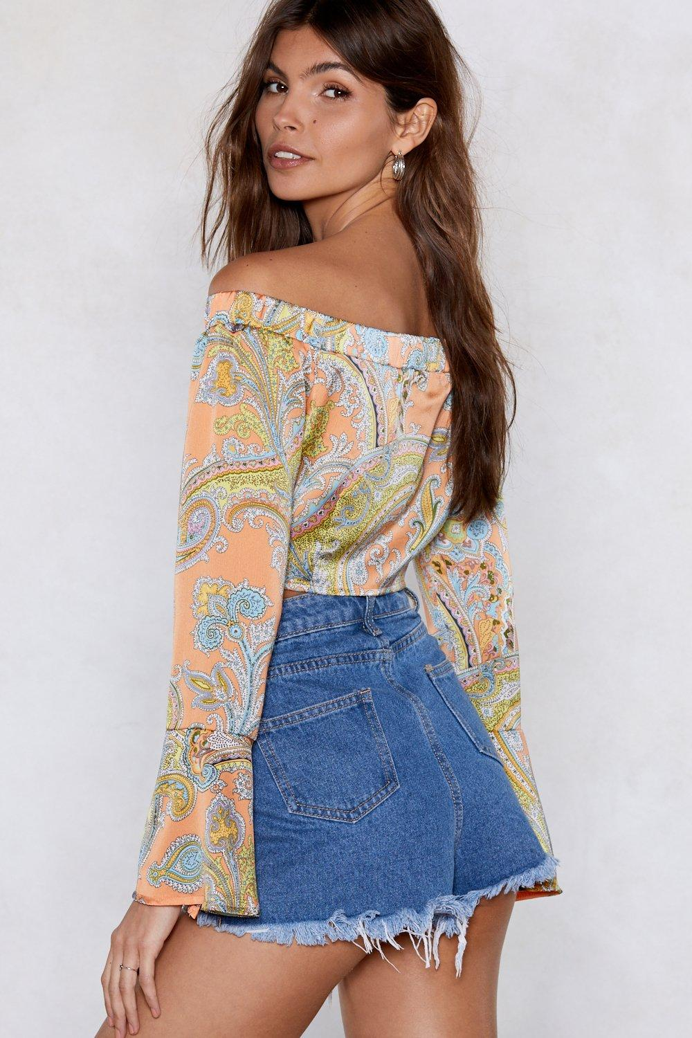 d51864ab2c0b2 The Price You Paisley Crop Top