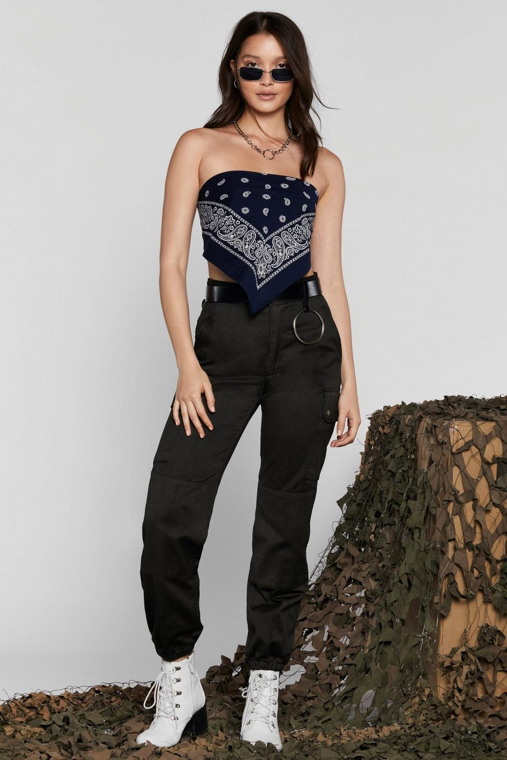 2033acf1068 After Party Vintage Crop Out Bandana Top