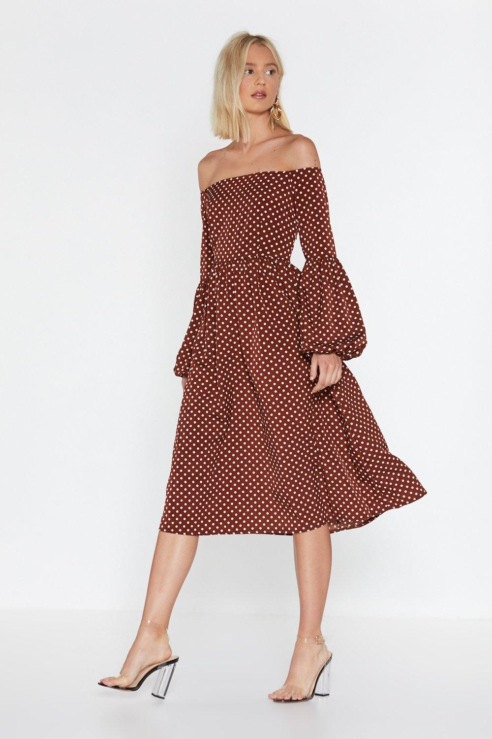 20e21a13ef822 Swing In Our Direction Polka Dot Dress