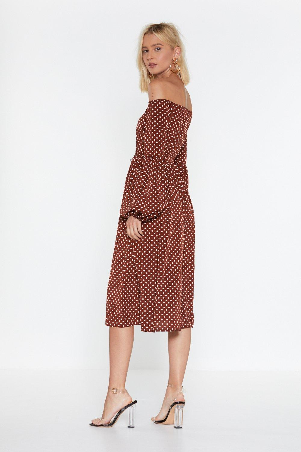 5338f3d2f3429 Swing In Our Direction Polka Dot Dress. Hover to zoom