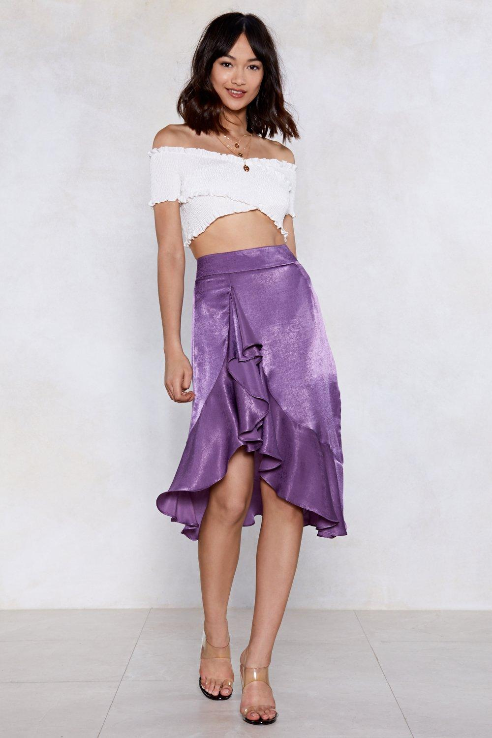 bd7f211ee Cause a Ruffle Midi Skirt | Shop Clothes at Nasty Gal!