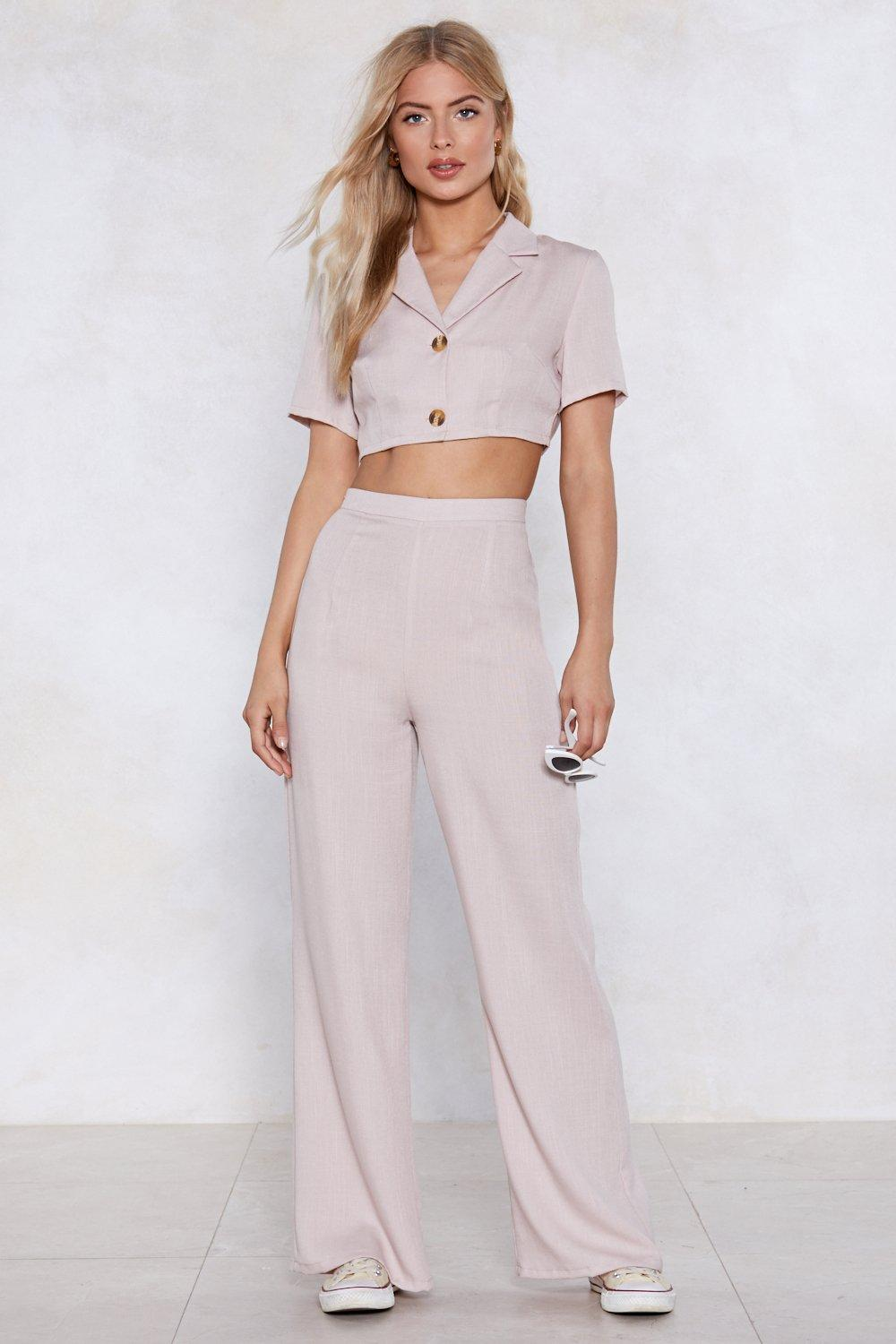 787d7f6cc Cute as a Button Wide-Leg Pants | Shop Clothes at Nasty Gal!