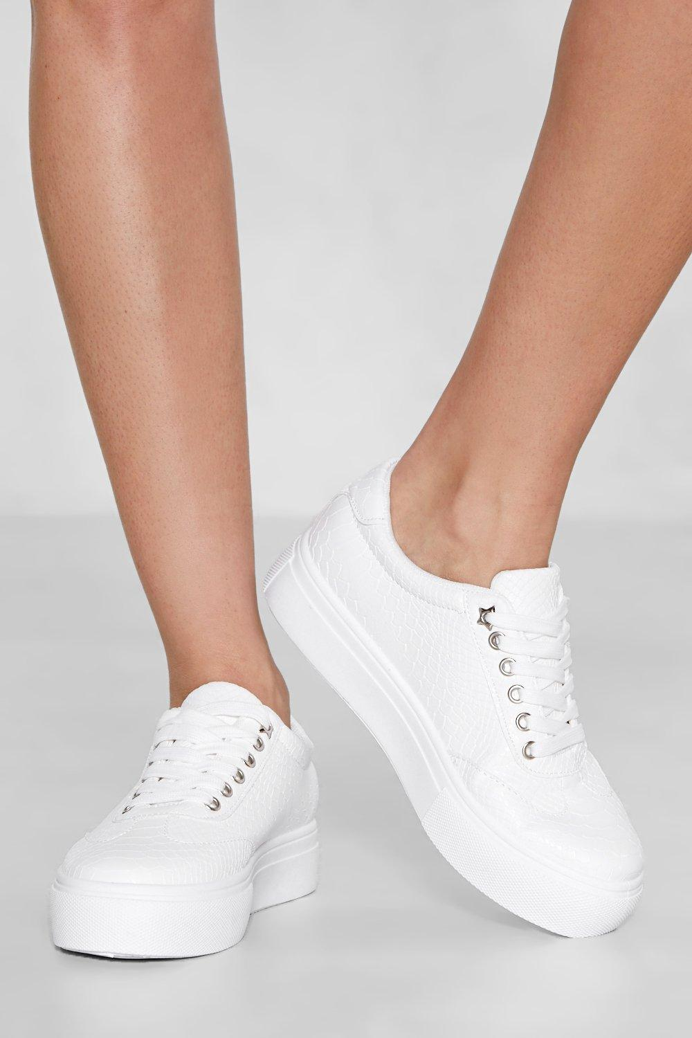 eed578191 Croc With Me Faux Leather Platform Sneaker | Shop Clothes at Nasty Gal!