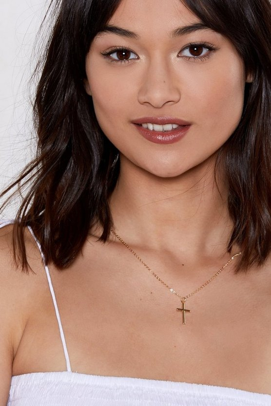 Cross Your Heart Necklace by Nasty Gal