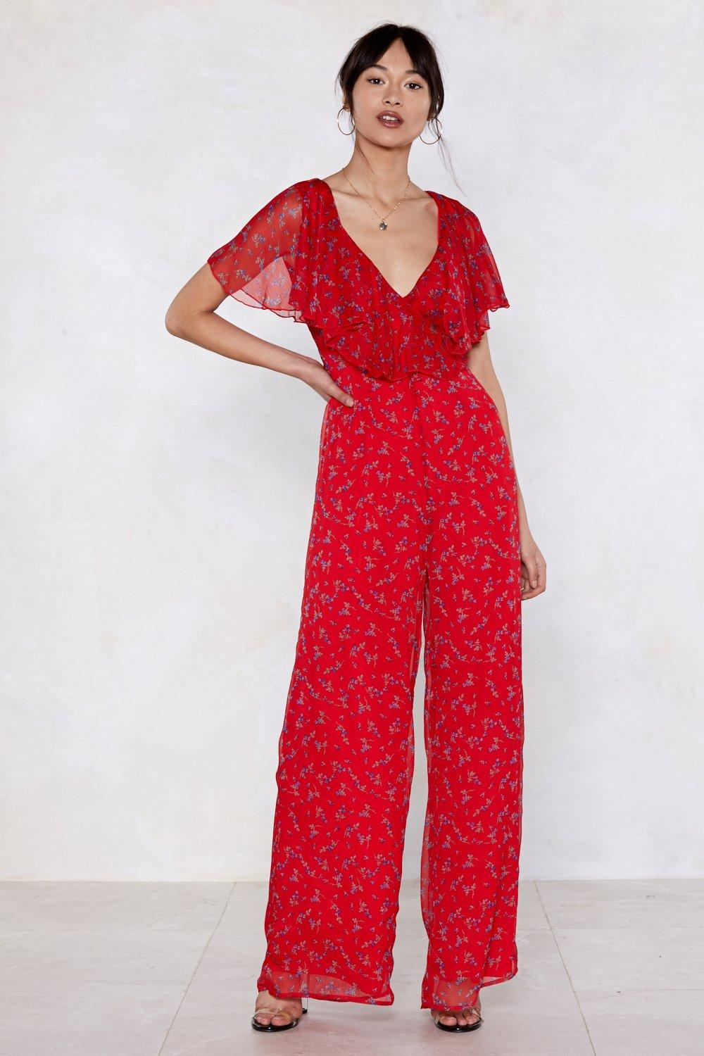 773a6594f7f0 Kick Some Bud Floral Jumpsuit | Shop Clothes at Nasty Gal!