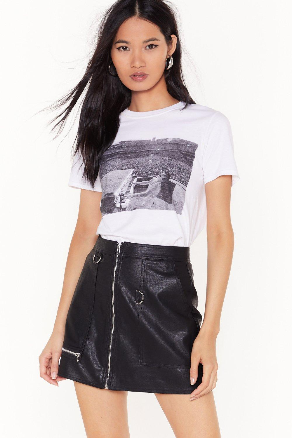 5b7941ac520ef Zip Up Your Troubles Faux Leather Skirt