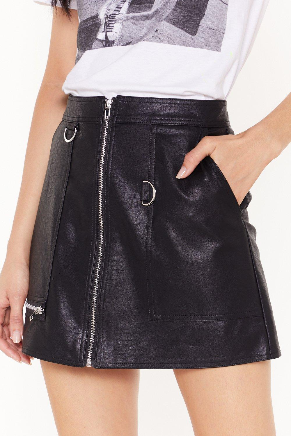cd73f323f7 Zip Up Your Troubles Faux Leather Skirt | Shop Clothes at Nasty Gal!
