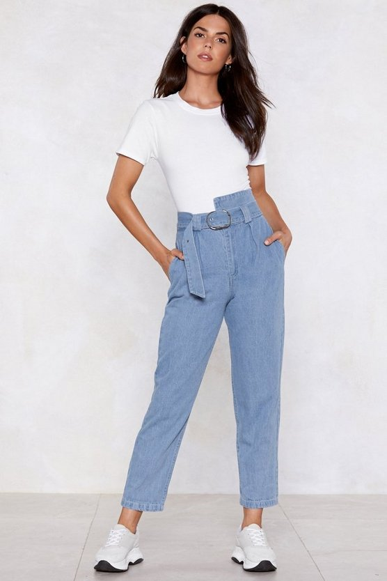 Ring Back Mom Jeans by Nasty Gal